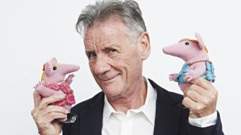 Palin with his new project: voicing the Clangers! Could any man want more?