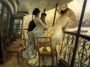 James Tissot, 'The Gallery of HMS Calcutta (Portsmouth)', 1870