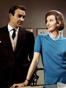 Lois Maxwell keeping Sean Connery at bay