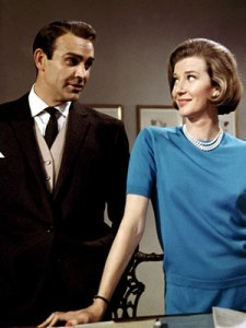 Lois Maxwell keeping Sean Connery at bay