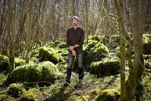 Paul Kingsnorth in the holt (credit: Kenneth O'Halloran for the New York Times)