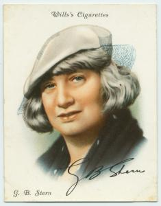G B Stern herself: who could resist collecting this card?