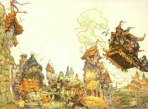 a Josh Kirby Discworld cover