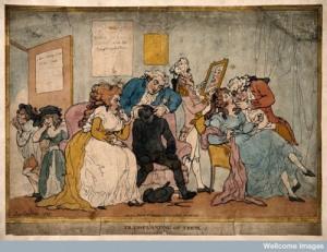 a fine 18thC dentistry scene