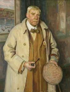 Portrait of Sir Arthur Quiller-Couch by Henry Lamb, (c) Mrs Henrietta Phipps; Supplied by The Public Catalogue Foundation