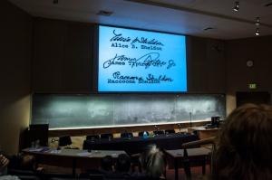 the three signatures (University of Oregon Libraries)