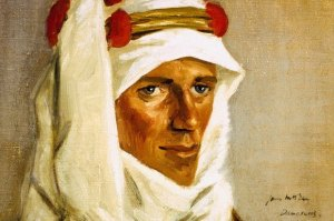 McBey's portrait of T E Lawrence, 1918